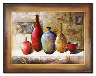 """Obraz """"Martwa natura nowoczesna"""" ręcznie malowany 72x92cm"""