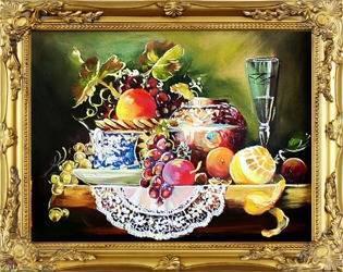 Obraz - Martwa natura tradycyjna - olejny, ręcznie malowany 37x47cm