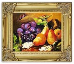 """Obraz """"Martwa natura tradycyjna"""" ręcznie malowany 27x32cm"""