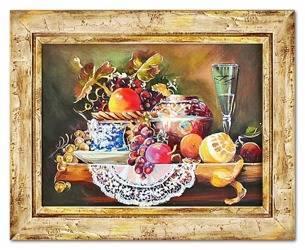 """Obraz """"Martwa natura tradycyjna"""" ręcznie malowany 41x51cm"""