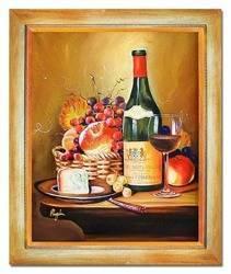 """Obraz """"Martwa natura tradycyjna"""" ręcznie malowany 53x63cm"""