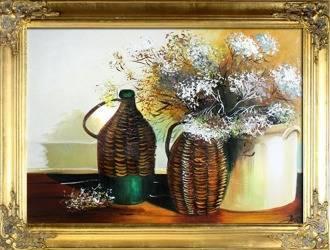 """Obraz """"Martwa natura tradycyjna"""" ręcznie malowany 64x84cm"""