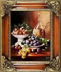 """Obraz """"Martwa natura tradycyjna"""" ręcznie malowany 65x75cm"""