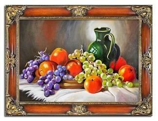 """Obraz """"Martwa natura tradycyjna"""" ręcznie malowany 75x95cm"""