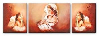 """Obraz """"Maryja"""" ręcznie malowany 2x50x40 +50x70cm"""