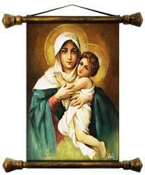 """Obraz """"Maryja"""" ręcznie malowany 45x50cm"""