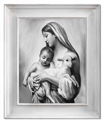 """Obraz """"Maryja"""" ręcznie malowany 54x64cm"""