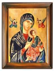 """Obraz """"Maryja"""" ręcznie malowany 63x83cm"""