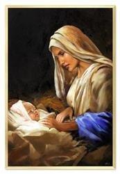 """Obraz """"Maryja"""" ręcznie malowany 63x93cm"""