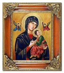 """Obraz """"Maryja"""" ręcznie malowany 65x75cm"""