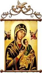 """Obraz """"Maryja"""" ręcznie malowany 68x95cm"""