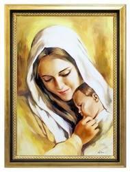 """Obraz """"Maryja"""" ręcznie malowany 75x105cm"""