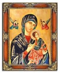 """Obraz """"Maryja"""" ręcznie malowany 75x95cm"""