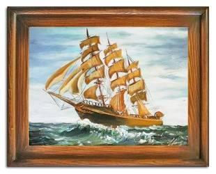 """Obraz """"Marynistyka"""" ręcznie malowany 37x47cm"""