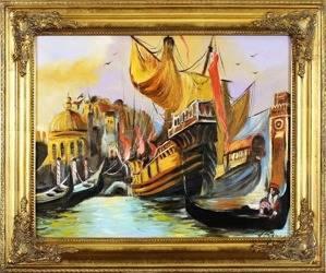 """Obraz """"Marynistyka"""" ręcznie malowany 54x64cm"""