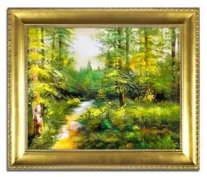 Obraz - Pejzaz tradycyjny - olejny, ręcznie malowany 54x63cm
