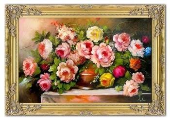 Obraz - Piwonie - olejny, ręcznie malowany 77x107cm