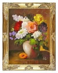 """Obraz """"Piwonie"""" ręcznie malowany 37x47cm"""
