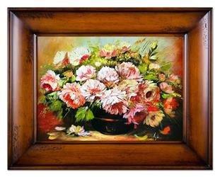 """Obraz """"Piwonie"""" ręcznie malowany 87x117cm"""