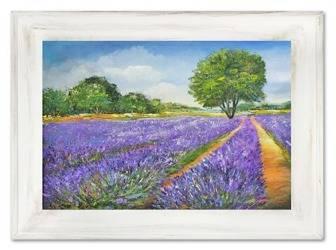 """Obraz """"Pola lawendowe"""" ręcznie malowany 82x112cm"""