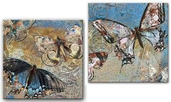 "Obraz ""Retro"" reprodukcja 30x30cm x2"