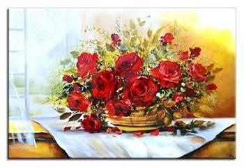 Obraz - Roze - olejny, ręcznie malowany 60x90cm