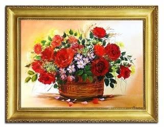 Obraz - Roze - olejny, ręcznie malowany 64x83cm