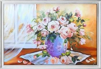 Obraz - Roze - olejny, ręcznie malowany 75x105cm