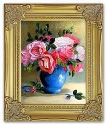 """Obraz """"Roze"""" ręcznie malowany 27x32cm"""