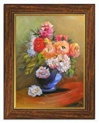 """Obraz """"Roze"""" ręcznie malowany 37x47cm"""