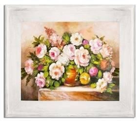 """Obraz """"Roze"""" ręcznie malowany 61x71cm"""