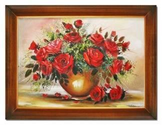 """Obraz """"Roze"""" ręcznie malowany 64x84cm"""