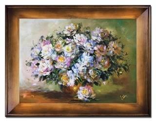 """Obraz """"Roze"""" ręcznie malowany 72x92cm"""