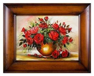 """Obraz """"Roze"""" ręcznie malowany 87x117cm"""