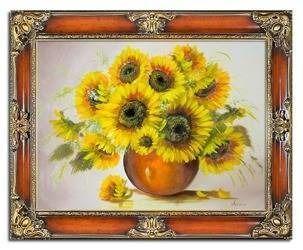 """Obraz """"Sloneczniki"""" ręcznie malowany 75x95cm"""