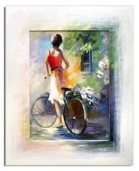 """Obraz """"Spacery - pejzaz nowoczesny"""" ręcznie malowany 46x56"""