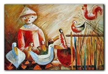 Obraz - Tadeusz Makowski - olejny, ręcznie malowany 60x90cm