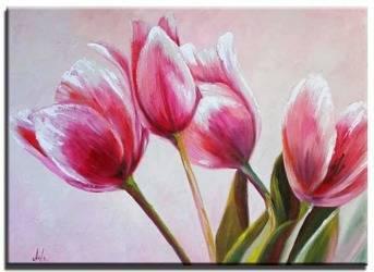 """Obraz """"Tulipany"""" ręcznie malowany 50x70cm"""