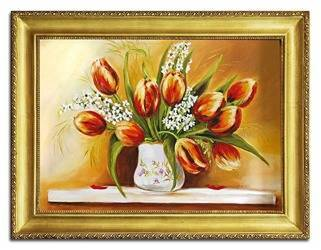 """Obraz """"Tulipany"""" ręcznie malowany 63x84cm"""