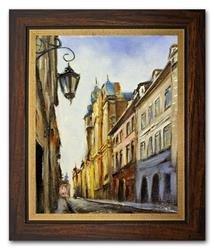 """Obraz """"Warszawa"""" ręcznie malowany 27x32cm"""