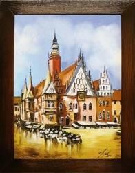 """Obraz """"Wrocław"""" ręcznie malowany 37x47cm"""