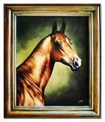 """Obraz """"Zwierzęta"""" ręcznie malowany 53x63cm"""