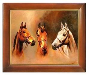 """Obraz """"Zwierzęta"""" ręcznie malowany 53x64cm"""