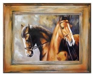 """Obraz """"Zwierzęta"""" ręcznie malowany 76x96cm"""