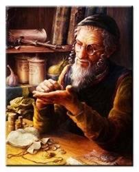 Obraz - Żyd na szczęście 20x25cm