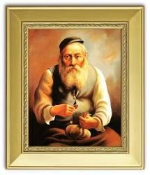 """Obraz """"Żyd na szczęście"""" reprodukcja 27x32cm"""