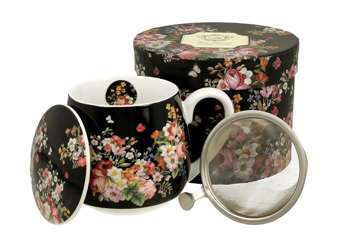 Pl Zaparzacz Baryłka 430 Ml Vintage Flowers - Blac