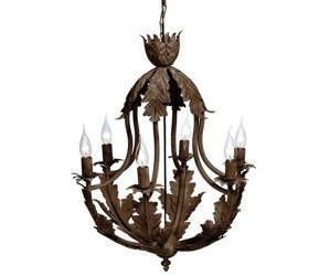 Rustic Lampa sufitowa liście