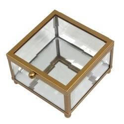 Szkatułka szklana 6x9x9