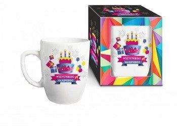 Urodzinowa geometria kubek tort